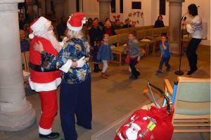 Lickey Concert and tree lighting 27 Santa and Janet dancing WEB 3-12-17