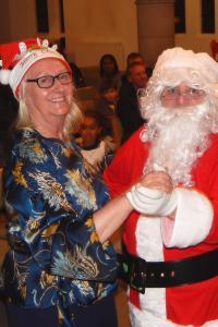 Lickey Concert and tree lighting 28 Santa and Janet dancing WEB 3-12-17