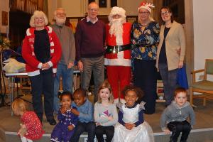 Lickey Concert and tree lighting 29 Cllrs and Santa WEB 3-12-17