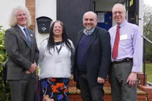 PC Helpers Meal Cllr. Charlie Hotham, Celia Artur, Gary Roskell and Cllr. Nick Forknell WEB 13-2-18