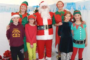 Santa and elves at LHPS 2 RGB Simon Woolford WEB 3-12-17