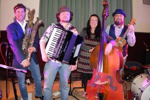 Kel Elliott and her three man orch group WEB