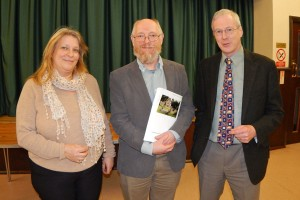 PC Annual Assembly L-R Helen Doherty EO, (Cllr) Steve Tibbits and Cllr. Nick Forknell WEB 3-4-17