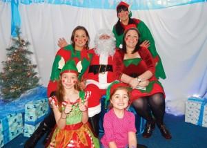 Lickey School Christmas Fayre Grotto Santa & Elves 21-11-15