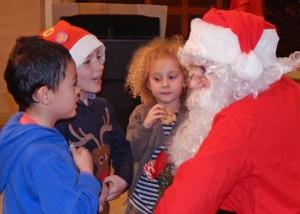 Lickey Tree lighting Santa with children 6-12-15